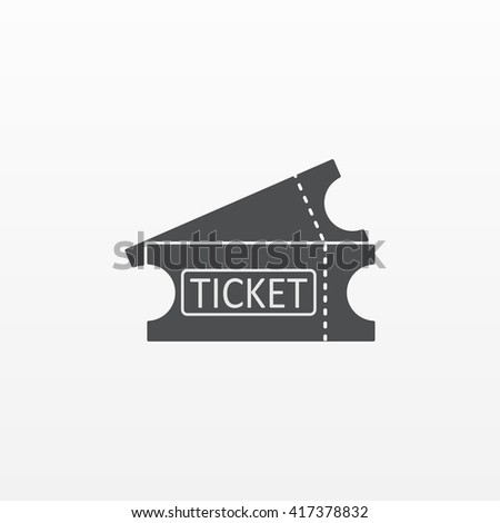 Gray Ticket icon isolated on background. Modern flat pictogram, business,  marketing, internet concept. Trendy Simple vector symbol for web site design or button to mobile app. Logo illustration  - stock vector