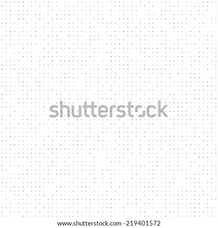 Gray tinted dots seamless pattern. White background. - stock vector