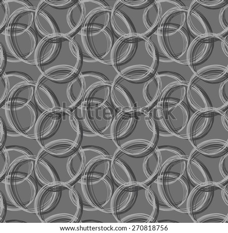 gray tone of Abstract pattern from circle hand drawn form - stock vector