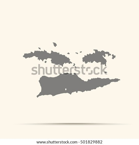 gray united states virgin islands map ilration