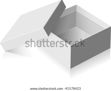 Gray vector box. - stock vector