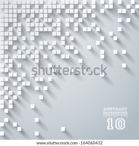 Gray vector geometric background can be used in cover design, book design, website background, CD cover, advertising.  - stock vector