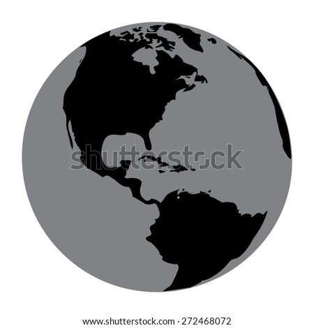 Gray Vector globe icons - stock vector