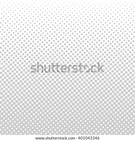 Gray vector halftone dots. Gray dots on white background - stock vector