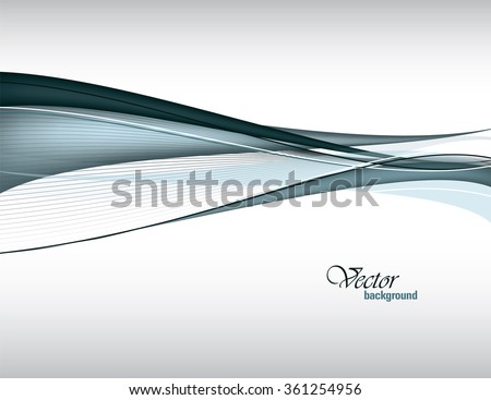 Gray Vector Modern Wavy Background. Eps10.