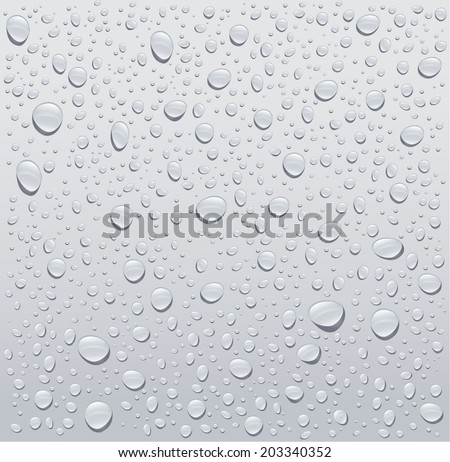 gray water droplets background - stock vector