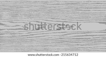 Gray wood texture background in horizontal format. Realistic plank with annual years circles. Natural pattern swatch template in flat style. Design elements save in vector illustration 8 eps - stock vector