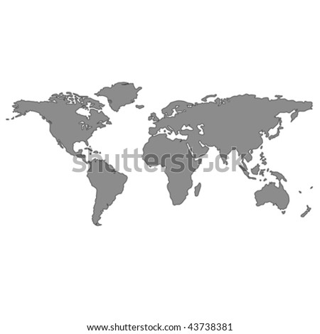 Vector halftone world map continents your vectores en stock gray world map vector art illustration gumiabroncs Images