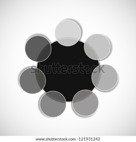 Grayscale diagram / schema. Place for your text or number - stock vector