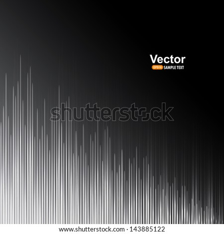 Grayscale equalizer - stock vector