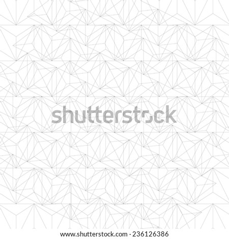 Grayscale technology stylish construction, abstract dimensional background with geometric figures. 3d illusive perspective covering, eps10 vector illustration. Op art surface. - stock vector