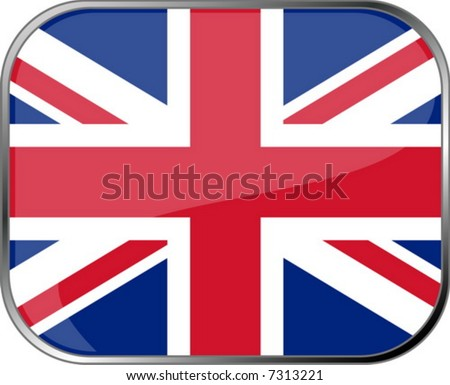 Great Britain flag icon with official coloring - stock vector
