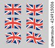 Great Britain Flag. Set national flag of British state. State symbols of Great Britain and Northern Ireland, United Kingdom