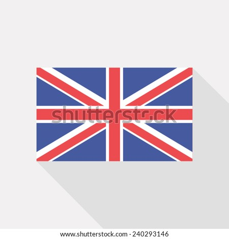 Great Britain flat flag - stock vector