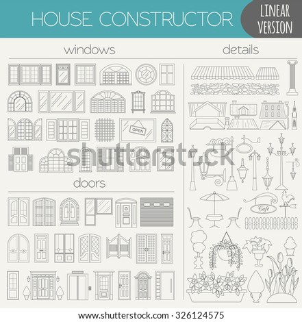 Great City Map Creator Outline Version Stock Vector