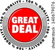 Great Deal. icon vector - stock vector