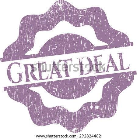 Great Deal rubber seal - stock vector