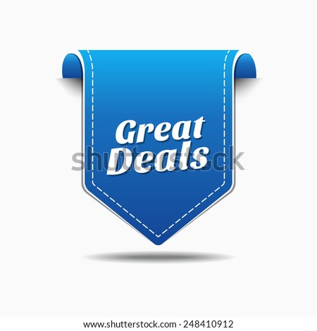 Great Deals Blue Vector Icon Design