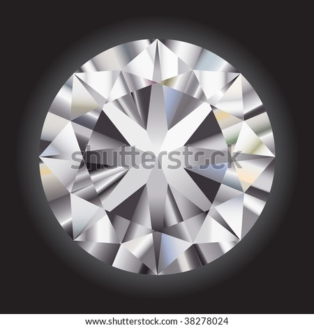Great gradient diamond on a black background