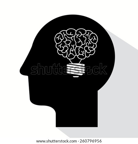 Great idea design - stock vector