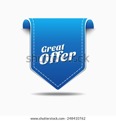 Great Offer Blue Vector Icon Design