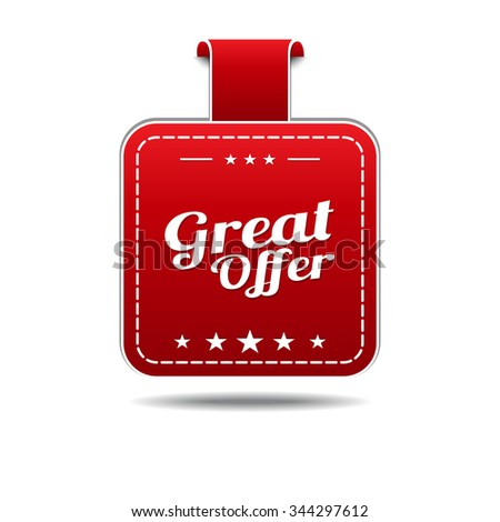 Great Offer Red Vector Icon Design