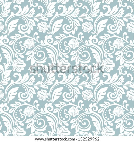 Great ornamental floral pattern. A seamless vector background. - stock vector