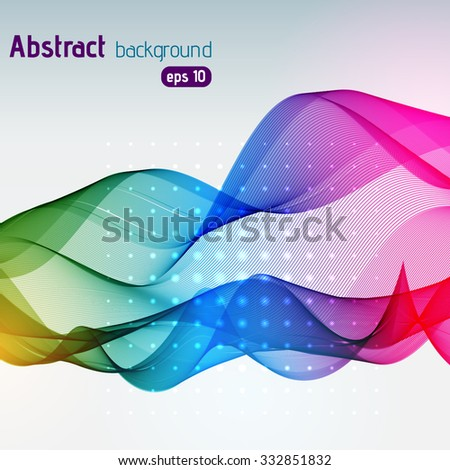 great rainbow waves colorful gradient line, vector illustration