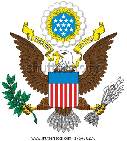 Great Seal of the United States - stock vector