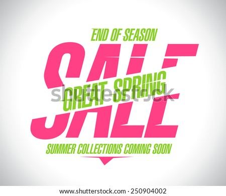 Great spring sale banner. - stock vector