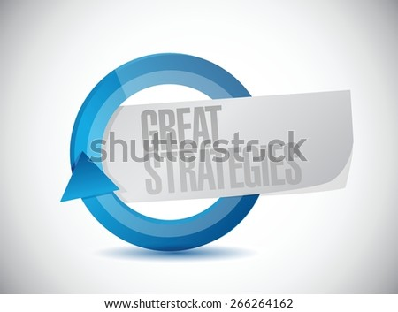 great strategies cycle sign illustration design over a white background - stock vector