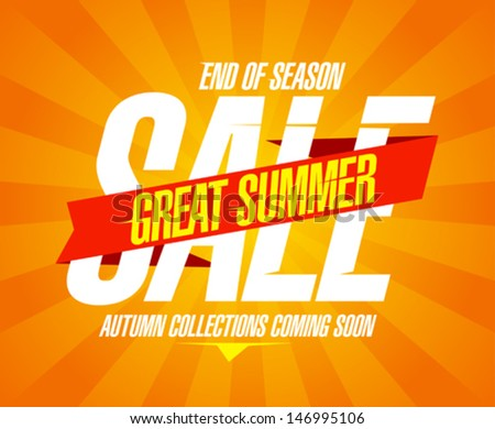 Great summer sale design template - stock vector