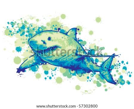 Great White Shark - stock vector
