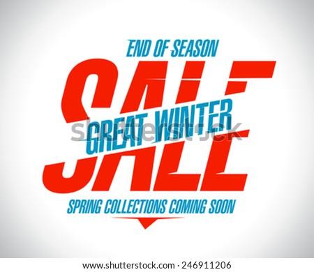 Great winter sale banner. - stock vector
