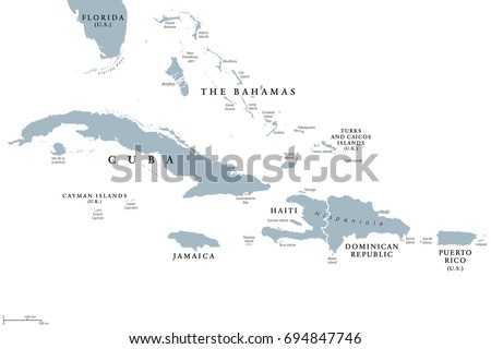Jamaica Political Map Capital Kingston Important Stock Vector - Political map of jamaica