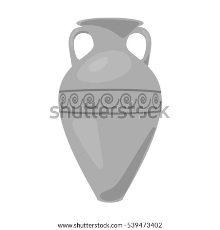 Greece amphora icon in monochrome style isolated on white background. Greece symbol stock vector illustration.