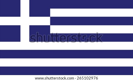 greece Flag for Independence Day and infographic Vector illustration. - stock vector