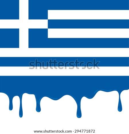 Greece Flag Grexit - stock vector