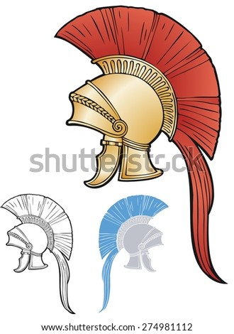 Greece-Roman style helmet - stock vector