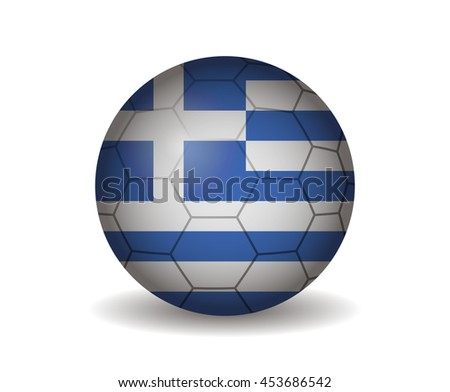 greece soccer ball