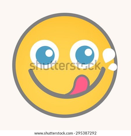 Greedy - Cartoon Smiley Vector Face - stock vector