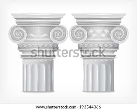 Greek Columns isolated on white background. Vector - stock vector