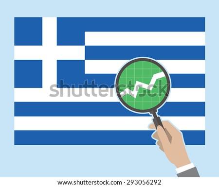 Greek flag concept - positive version. EPS8. - stock vector