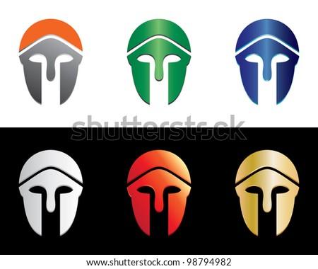 Greek Helmet - stock vector