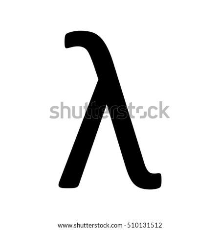 Greek Letter Lambda Symbol Stock Vector Royalty Free 510131512