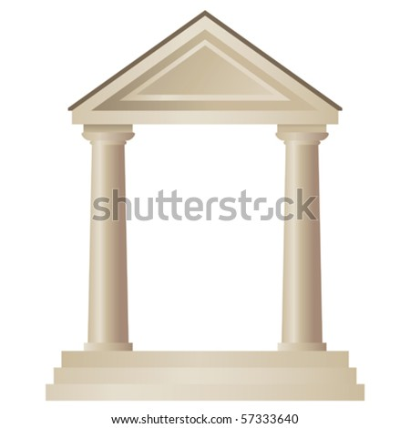 greek  temple - stock vector