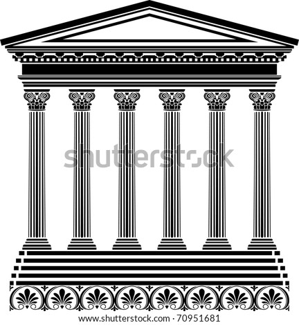 Greek temple stencil