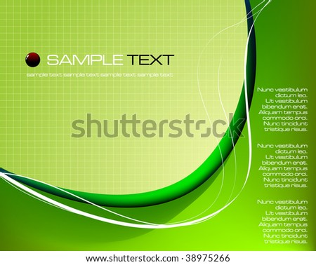 Green abstract background composition - vector illustration