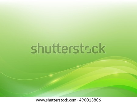 Green abstract background lighting curve and layer element vector illustration eps10