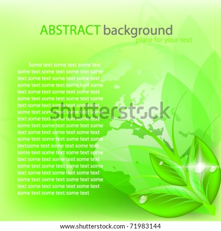 Green abstract background. Vector - stock vector